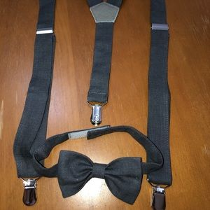 Boys suspended and bow tie set